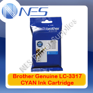 Brother Genuine LC-3317C CYAN Ink Cartridge for MFC-J5330DW/MFC-J5730DW/MFC-J6530DW/MFC-J6730DW/MFC-J6930DW (550 Pages)